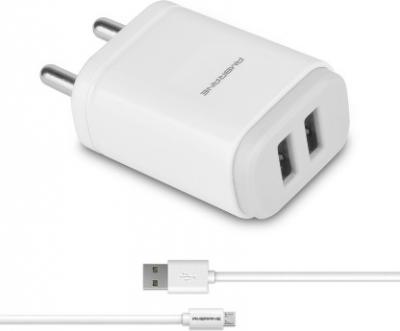 Ambrane AWC-22 2.1A Dual Port Fast Charger with USB Cable