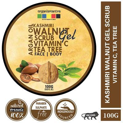 Organix Mantra Kashmiri Walnut Gel Scrub with Vitamin C & Tea Tree Oil (No Parabens/No Sulphates) 100GM