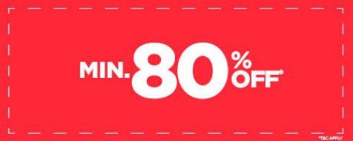 MInimum 80% Off on Fashion & accessories