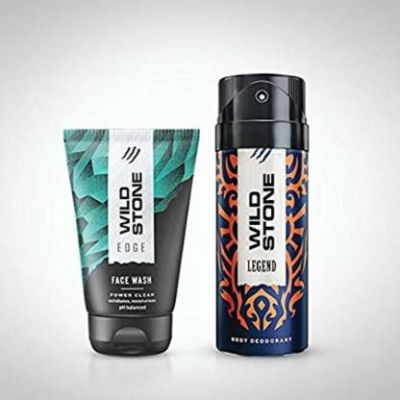 Wild Stone legend deo 150 ml and edge face wash 50 ml  (2 Items in the set)