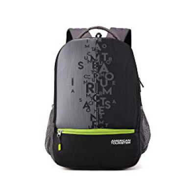 American Tourister 32 Ltrs Black Casual Backpack (AMT Fizz SCH Bag 02 - Black)