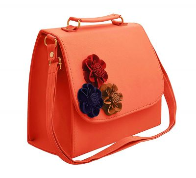 BFC 3D Flower Womens Sling Bag (Baby Pink)
