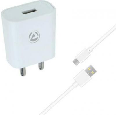 ARU AR-155 2.1A Single Port 2 A Mobile Charger with Detachable Cable
