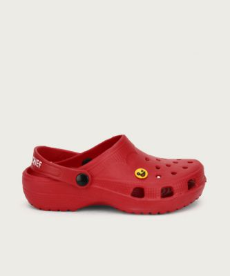 Miss & Chief Boys & Girls Slip-on Clogs  (Red)