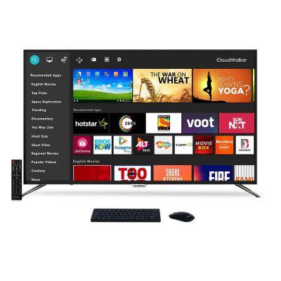 CloudWalker 165 cm (65 Inches) 4K Ultra HD Smart LED Screen 65SUA7 (Black) (2019 Model)