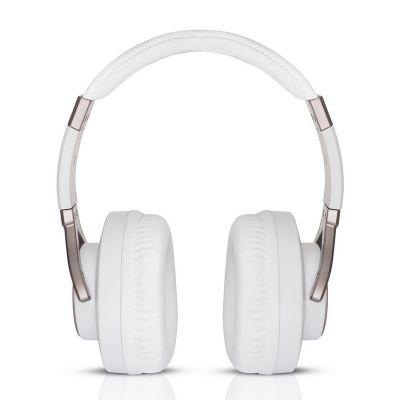 Motorola Pulse Max Over Ear Wired Headphones with Alexa (White)