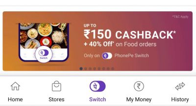 Phonepe Switch: Up to 40% Off + Flat Rs.50 Cashback