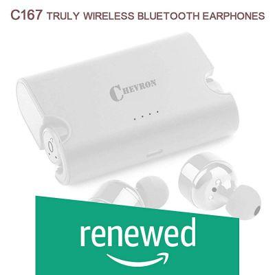 (Renewed) Chevron C167 Truly Wireless Bluetooth Earphones with Mic (Blade Silver)