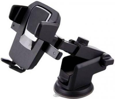 Bluedrum Car Mobile Holder for Windshield, Dashboard (Black, Silver)