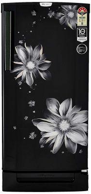 Godrej 190 L 5 Star ( 2019 ) Inverter Direct-Cool Single Door Refrigerator (RD EPRO 205 TDI 5.2 PRL BLK, Pearl Black, Base Stand with Drawer, Inverter Compressor)