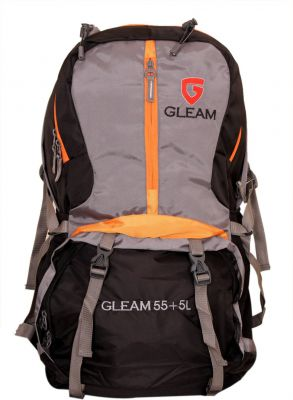 Gleam 2209 Climate Proof R/ Hiking / trekking bag / 60 Ltrs with Laptop Sleeve &  Rain Cover RUCKSACK