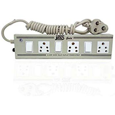Spartan Power Strip 6A 3-Socket Extension Cord (White)