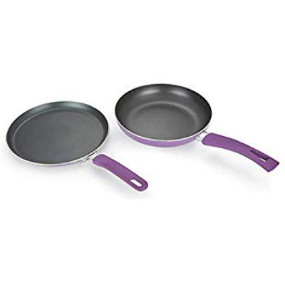 2 Pcs Pressed Alluminium Cookware Set in Purple Colour by HomeTown