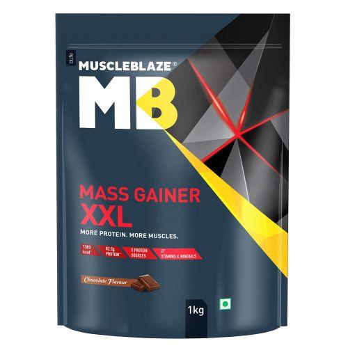 MuscleBlaze Mass Gainer XXL (Chocolate, 1 Kg / 2.2 lb)