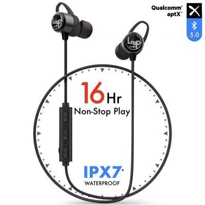 LoopAudio - HyperLoop [16 Hour Battery][100% Waterproof IPX7] 5.0 Bluetooth Wireless Earphone with Mic & Carry Case [Upgraded V2]