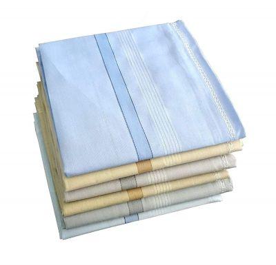 Kuber Industries Cotton 12 Piece Men's Handkerchief Set - Multicolour (CTKTC05646)