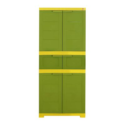 Cello Novelty Triplex Cupboard - Green & Yellow