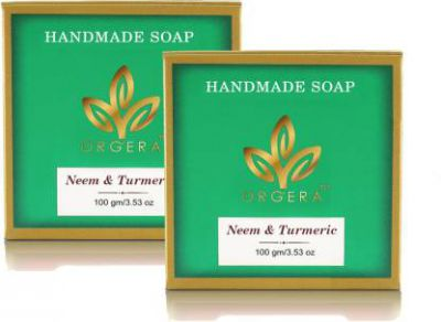 Org'era Anti fungal Neem Soap with turmeric (PACK OF 2)  (2 x 100 g)