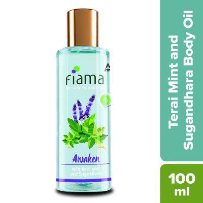 Fiama Refreshing Body Oil, Terai Mint and Sugandhara, 100ml