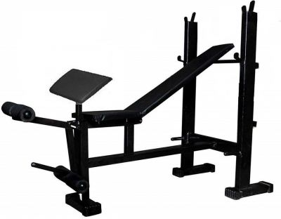 MADHRUN 4 in 1 Gym Bench with Preacher Free