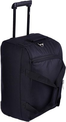 Skybags Scot Plus Polyester 54 cms Black Travel Duffle (DFTSPE54BLK)