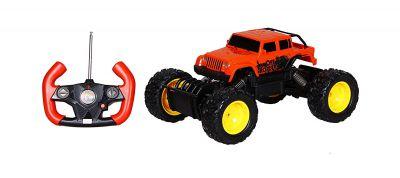 Toyhouse Officially Licensed Radio Remote Control Rastar Rock Crawler Action Rc 1:18 Scale Model Car, Orange