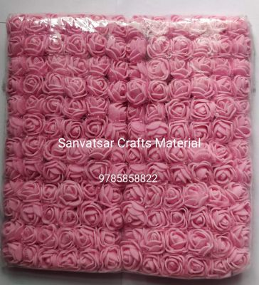 Pink Foam Flowers 144 Pieces for Jewellery/Decoration/Craft Material/Diwali Decoration
