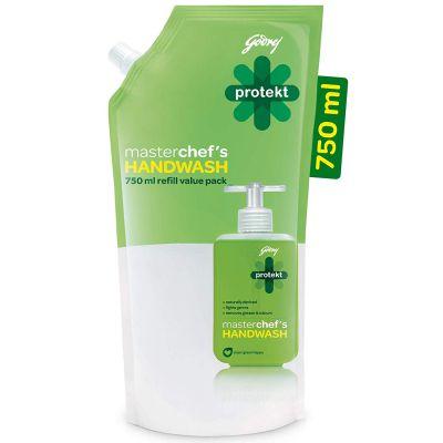 Godrej Protekt Masterchef's Liquid Handwash Refill, 750 ml...