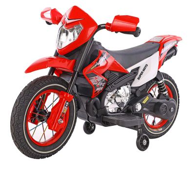 Toyhouse Scrambler Motorcycle Rechargeable Battery Operated Ride-on for Kids, Red