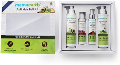 Mamaearth Anti Hair Loss Kit (Oil, Shampoo, Conditioner & Tonic)  (4 Items in the set)