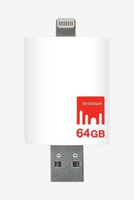 Strontium iDrive 64GB 64 GB Pen Drive White