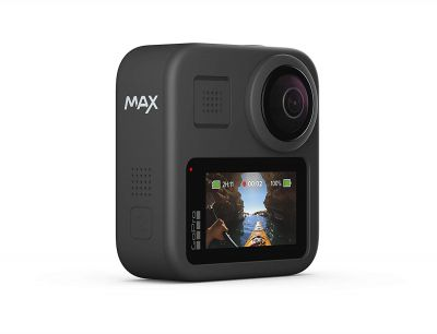 GoPro Max CHDHZ-201-RW 16.6 MP, Hero + 360 footage, 1080p Live Streaming, HyperSmooth and Superview, Action Camera