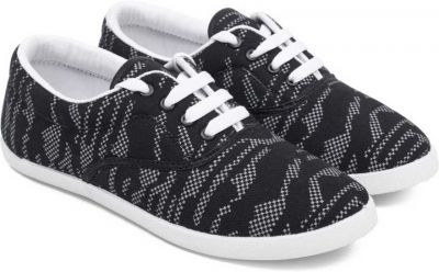 Asian Blush-21 Black White Casual Shoes,Laceup Shoes,Sneakers, Casuals For Women