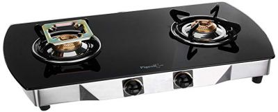 Pigeon by Stovekraft Blackline Oval SS Gas Stove, 2 Burner