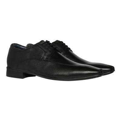 BATA Men's Accent Black Leather Formal Shoes