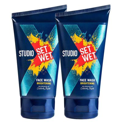 Set Wet Studio X Face Wash For Men - Brightening 100 ml (Pack of 2)