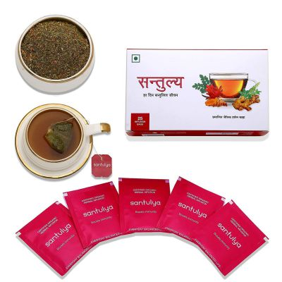Santulya Certified Organic Herbal Infusion Tea (25 Unbleached Tea Bags)