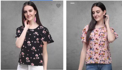Women's Casual Butterfly Sleeve Tops at Minimum 80% Off