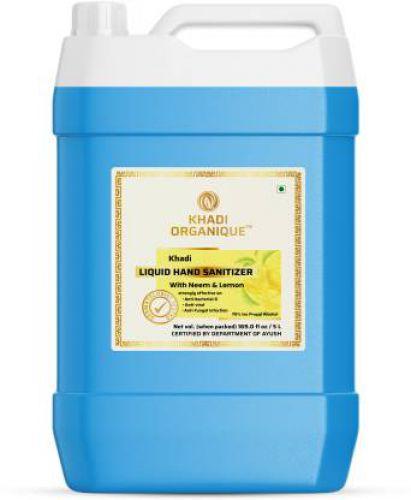 Khadi Organique Hand sanitizer kills 99.99% germs (5 L)