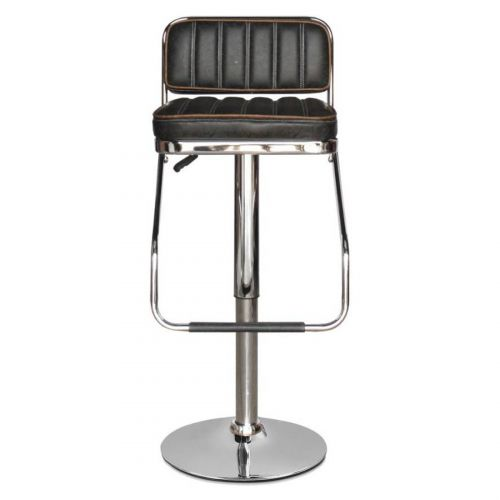 Woodness Chicago Bar Stool (Matte Finish, Black)
