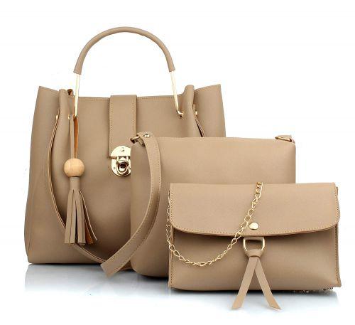 Mammon Women's Handbag With Sling Bag & Wristlet (Set of 3)