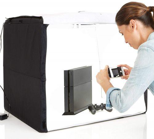 (Renewed) AmazonBasics Portable Photo Studio...