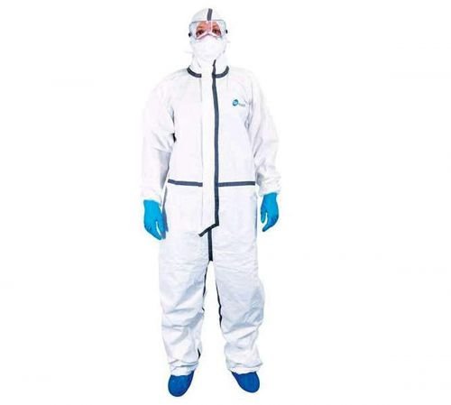 Adrian Biohazard PPE kit with 90 GSM Laminted Polypropylene Spunbond Non-Woven (White)...