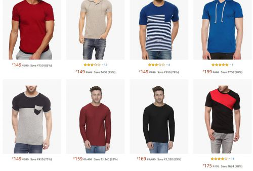 Men's T-Shirts starting at Just Rs. 149