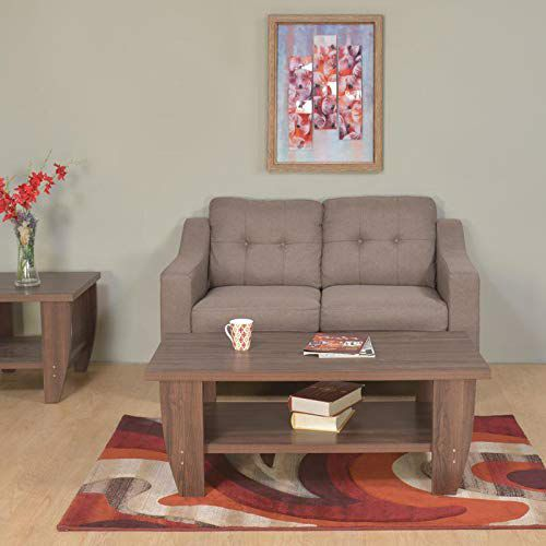 @home by Nilkamal Zella 2 Seater Sofa (Dark Beige)