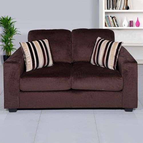 Evok Fabio Two Seater Sectional Sofa (Chocolate)