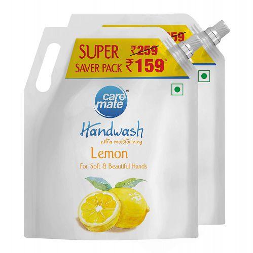 Caremate Handwash - Lemon, 1.5 Litre, Pack of 2