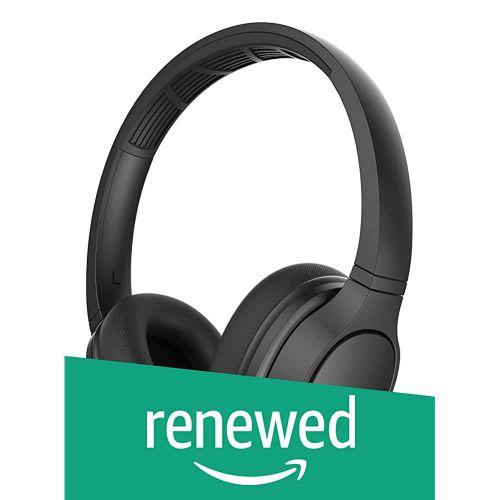 (Renewed) Philips ActionFit TASH402BK IPX4 Sweat Resistant On-Ear Bluetooth Sports Headphones (Black)