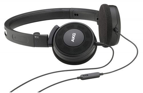 (Renewed) AKG Y30U On-Ear Headphones with Mic