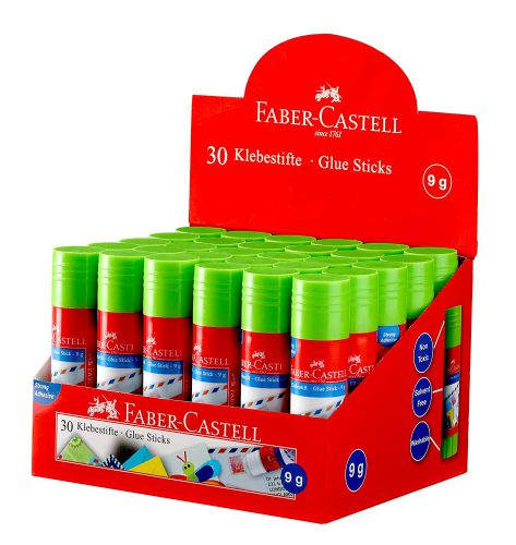 Faber-Castell Glue Stick - 9g, Pack of 30 (Multicolor)